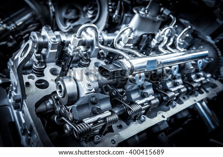 The powerful engine of a car ストックフォト ©