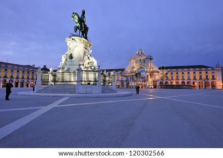 The Praca do Comercio or Commerce Square is located in the city of Lisbon, Portugal. Situated near the Tagus river, the square is still commonly known as Terreiro do Paco or Palace Square.