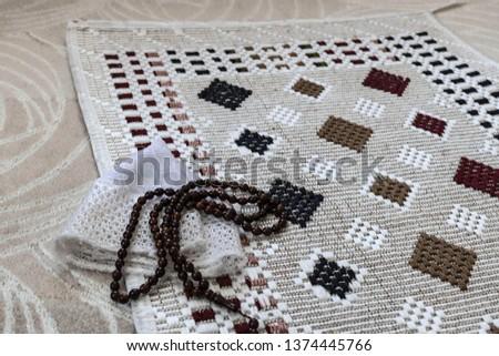 The prayer rug  prayer beads  prayer hat  #1374445766