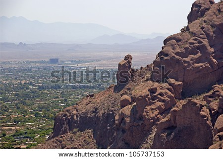The Praying Monk rock formation on Camelback Mountain