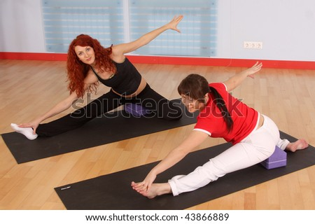 The Pregnant Woman With The Instructor Is Engaged In ...