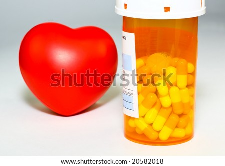 The prescription medication -  a conceptual image on health, cost, and medical insurance