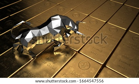 The price of gold on the stock exchange is rising. 3d illustration. Сток-фото ©
