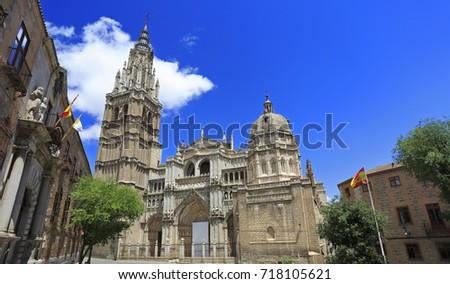 Shutterstock The Primate Cathedral of Saint Mary of Toledo (Catedral Primada Santa Maria de Toledo), a Roman Catholic cathedral in Toledo, Spain