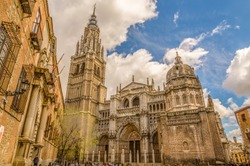 The Primate Cathedral of Saint Mary of Toledo, 13th century high gothic cathedral of Toledo, Spain