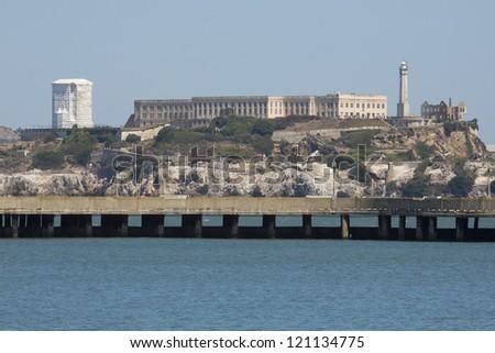 the prison of Alcatraz at San Francisco in USA