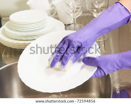 the process of dishwashing