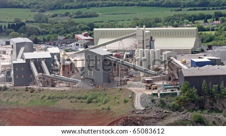 The Processing Works and Buildings at a Granite Quarry.