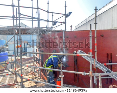 The Production Of A Small Storage Tank And Vertical Welding 1 #1149549395