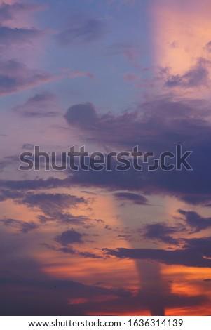 the purple and orange twilight sunset,twilight background.