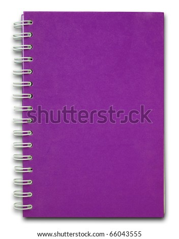 The purple cover of Note book