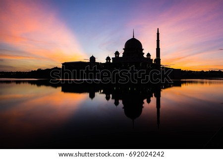 The Putra Mosque is the principal mosque of Putrajaya, Malaysia. #692024242
