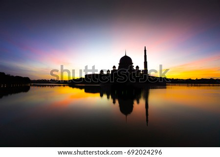 The Putra Mosque is the principal mosque of Putrajaya, Malaysia. #692024296