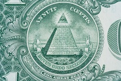 The pyramid and eye on the back of a one dollar bill macro - Novus Ordo Seclorum