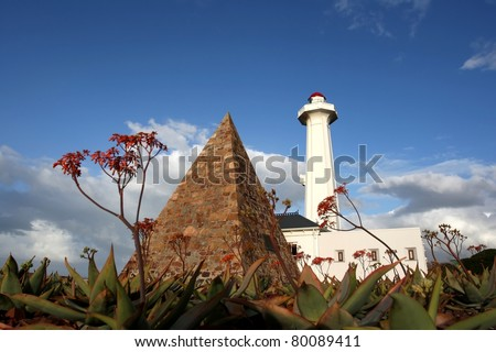 The pyramid and lighthouse at the Donkin Reserve in Port Elizabeth, South Africa