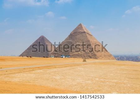 The Pyramid of Khafre and Pyramid of Khufu