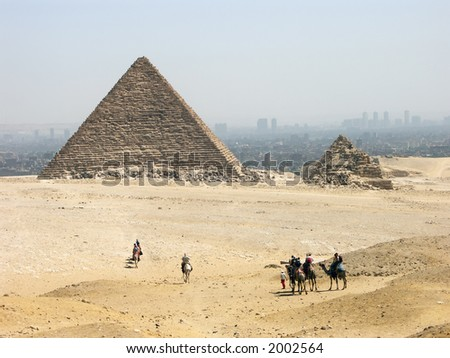 The pyramid of Menkaure , Giza, Egypt #2002564