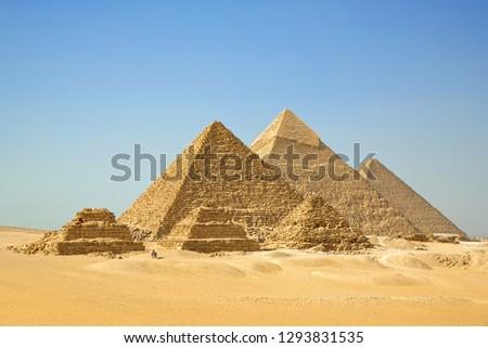 The Pyramids, Giza, Cairo, Egypt.
