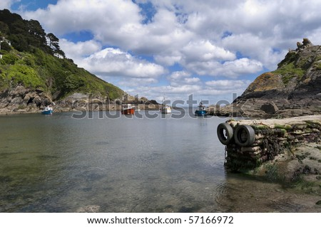The quaint fishing village of Polperro in Cornwall