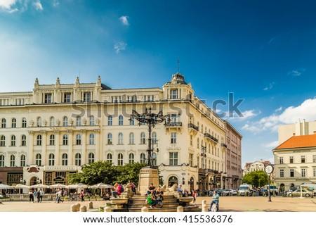 the quaint streets of Budapest Stock fotó ©