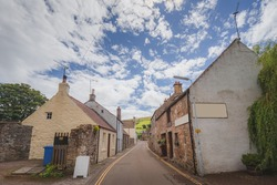 The quaint village of Falkland, a popular filming location in Fife, Scotland.