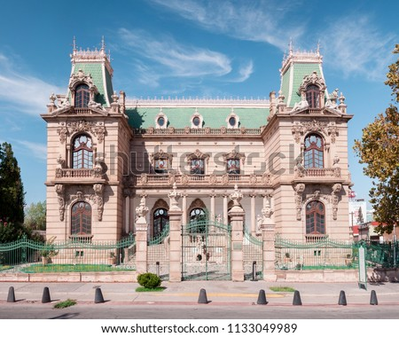The Quinta Gameros is a mansion in Chihuahua, Mexico. The building is an Historic National Monument of Mexico. The main architectural style is Art Nouveau. Currently houses a regional museum.