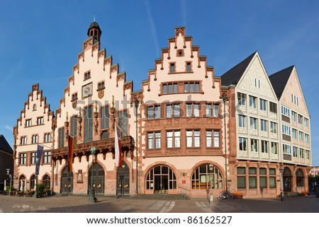 The Römer at Römerberg, Frankfurt's Town Hall and center of the Old Town.