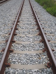 The railway, railroad track is structure consisting of rails, fasteners, railroad ties (sleepers) & ballast (slab track), underlying subgrade. It gives a dependable surface for train wheels to roll on