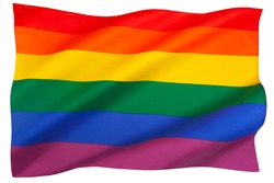 The rainbow flag (also known as the gay pride flag or LGBT pride flag) is a rainbow flag that is used as a symbol of lesbian, gay, bisexual, transgender and gay pride.
