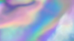 The rainbow sheen. Holographic background. Vibrant neon pastel texture. Hologram glitch for web design. Real gradient moving surface