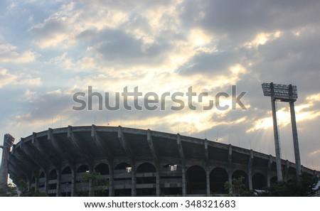 the rajamangala stadium before the sun down