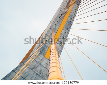 The Rama 8 Bridge at daytime in Bangkok, Thailand #170130779