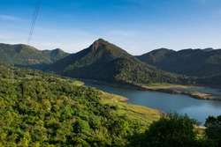 The Randenigala Dam is a large hydroelectric embankment dam at Rantembe, in the Central Province of Sri Lanka.