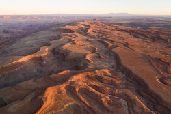 The Raplee Anticline, Folding Hills and a vast Utah desert