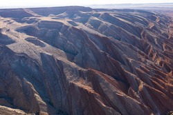 The Raplee Anticline in aerial over Utah desert