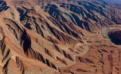 The Raplee Anticline, unique Geology aerial in southern Utah