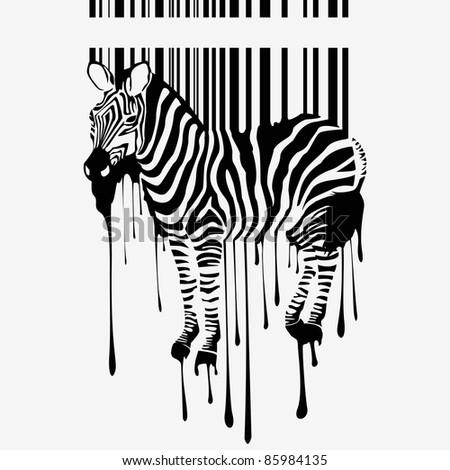 the raster zebra silhouette