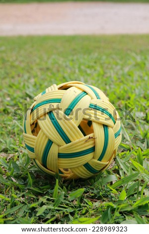The rattan ball is traditional sport of Thailand.