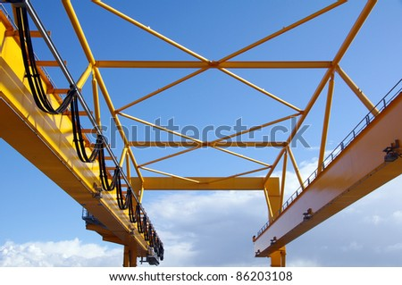The rear fragment of container crane