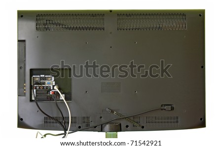 The rear view of a lcd television