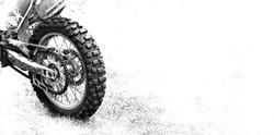 the rear wheel motocross bike