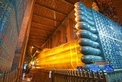The reclining buddha in Thailand.