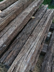 The recycle wood from the railway sleeper.
