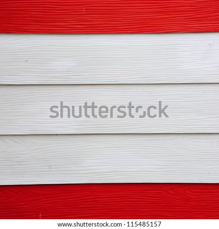 the red and white wood texture
