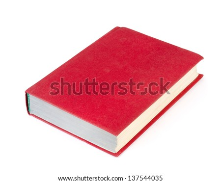 The red book isolated on white on white background