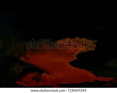 Photo of  The red cloud looks like a smoke bomb.blur