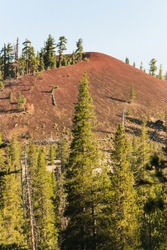 The Red Domes in the forest nead Mammoth, California along the John Muir Trail
