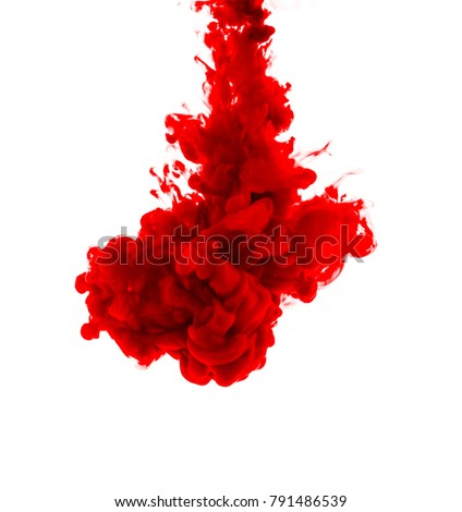 Stock Photo The red dye in the water. Abstract. background. Wallpaper. Concept art