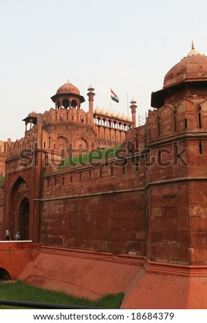 The red fort in Delhi, famous landmark in the Indian capital