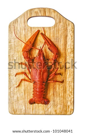 the red lobster on a cutting board